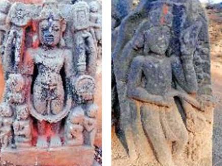 जगदलपुर। पुरातात्विक महत्व की मूतिर्यों का गढ़ कहे जाने वाले केशरपाल में दुर्लभ मूतिर्यों के मिलने का क्रम जारी है। अब मनबोध यादव की बाड़ी में नाली खोदने के दौरान भगवान विष्णु सहित कंकालिन और दिगपाल की प्रतिमा और पुराने मंदिर के भग्नावशेष मिले है। इधर खेत में मिली भगवान विष्णु की एक और दुर्लभ प्रतिमा को ग्रामीणों ने बस्ती के तिराहे में रख दिया है । केशरपाल में पुरातन महत्व की वस्तुओं की उपेक्षा की एक और बानगी यह है कि एक शिलालेख को ग्रामीण ने अपनी बाड़ में सामान्य पत्थर की तरह लगा रखा है।