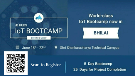 भिलाई. श्री शंकराचार्य टेक्निकल कैंपस में 18 जून, 2018 से विश्व स्तरीय आईबी हब्स IoT Bootcamp'18 आयोजित किया जा रहा है। कार्यक्रम सभी छात्रों / संकाय अनुसंधान विद्वानों / उद्यमियों के लिए है। इस 5 दिन के बूटकैंप में प्रमुख रूप से दो उन्नत तकनीकों IoT और साइबर सिक्योरिटी का प्रतिभागियों को अनुभव दिया जायेगा।
