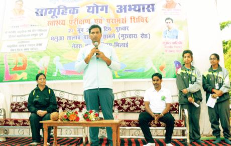 Bhilai Mayor Devendra Yadav