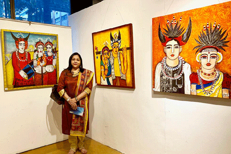 Nandini Verma's Paintings to be exhibited today in Nehru Art Gallery Bhilai