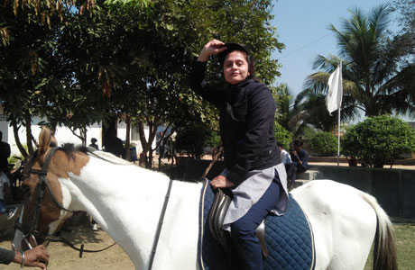 Horse riding in MJ College