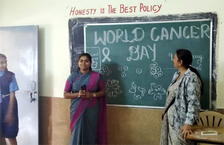 Cancer day celebrated by BEd Students of SSMV