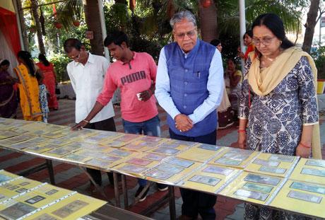 Gou Karuna Abhiyan Pradarshani at Sai Mandir Kumhari