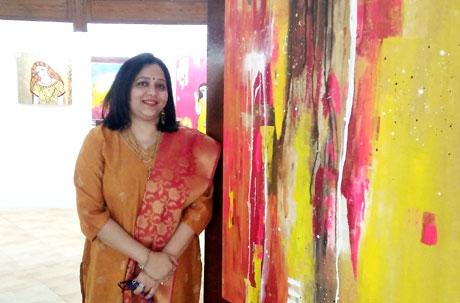 Artist Nandini Verma at Nehru Art Gallery