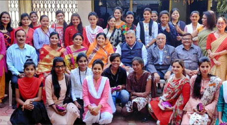 Students of Patankar Girls College Felicitated by MLA Arun Vora