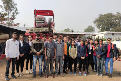 RCET Agriculture students visit Agro equipment facftory
