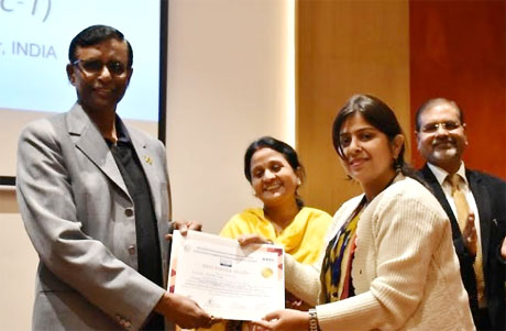 Prof Priyanka of RCET wins first prize in international conference on electricity