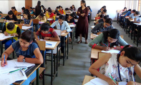Annual Exam begins in Girls College Durg
