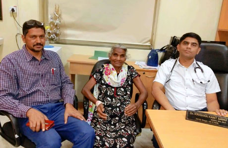 75 year old female operated at Raipur for Lung Cancer