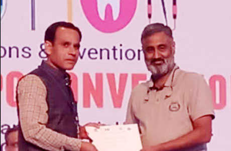 Dr Pandey of RCDSR felicitated