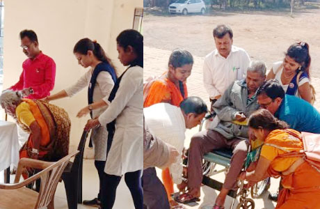 Aid camp for Senior Citizens at BMM