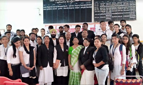 Swaroopanand College Visits Durg Court