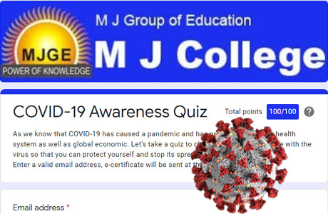 Online Quiz on Corona by MJ College