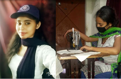 RCET girls make and distribute masks to the needy