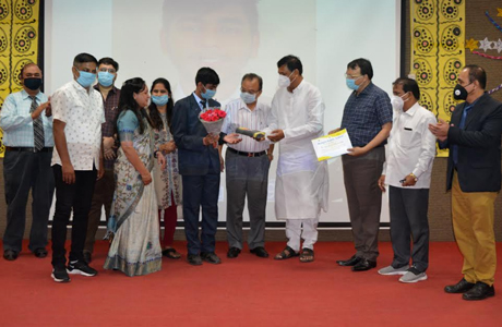CBSE state topper felicitated