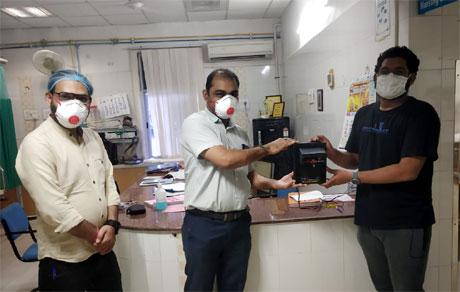 Automatic Sanitizing machine developed by students