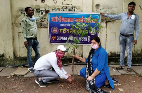 SSMV plants saplings in Shankaracharya Institute of medical sciences
