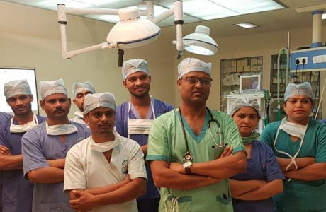 Surgery team of Sparsh Multispeciality Hospital saves two lives