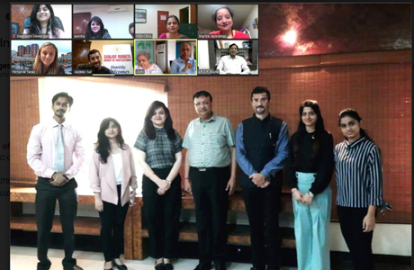 Live international webinar at Rungta Dental College