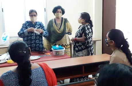 Mask and Kadha training at ssmv