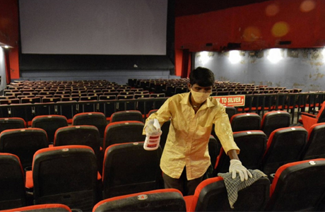 Cinema reopens in Bemetara with strict COVID PROTOCOL
