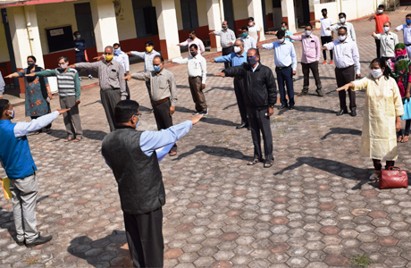 Sadbhava Divas Oath at Science College Durg