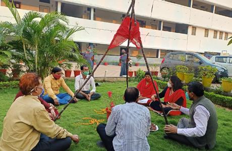 Tulsi Vivah in MJ College