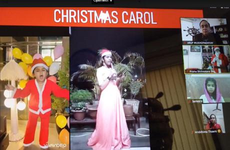 Online Christmas celebrations at RPS Bhilai