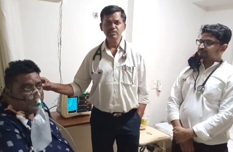 170 kg patient treated of Corona in Hitek Hospital Bhilai