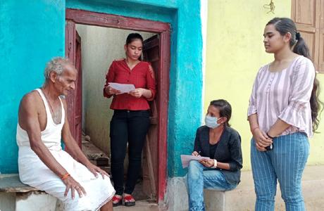MJ College NSS Survey at Village Belaudi