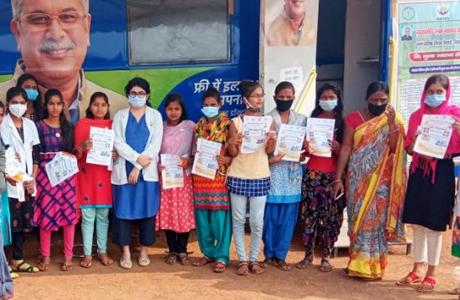 Girls Health Checkup done on Rashtriya Balika Divas