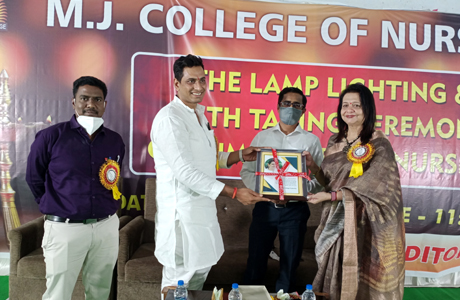 Lamp lighting ceremony at MJ College of Nursing