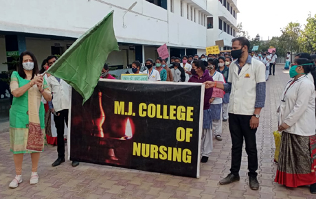 Cancer Day observed at MJ College of Nursing