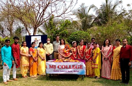 Basant Panchami organised at MJ College Bhilai