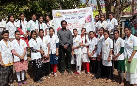 Cancer Day observed at MJ College of Nursing