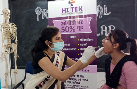 World Oral Health day at MJ College of Nusring