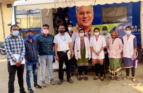 Hypertension awareness talk in Mobile Medical Unit Camp