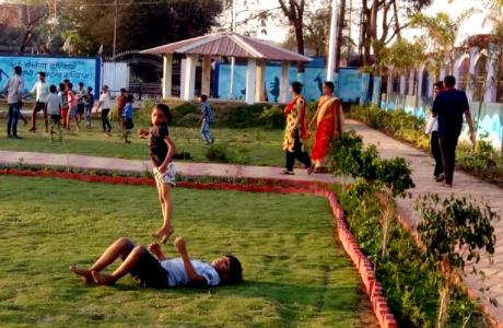 Beautiful garden developed in Khursipar Milawatpara