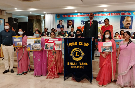 Newly Chartered Lions Club Vama win 3 awards in Region Conference