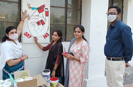 Painting workshop at MJ College culminates