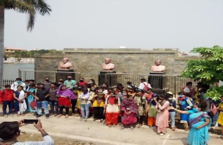 Hindi Department of Science College Visits Odan Dam Rajnandgaon