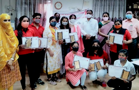 Science College felicitates members of Youth Red Cross