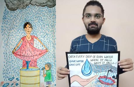 स्वरूपानंद कालेज में जल संरक्षण पर इंटरकालेज स्पर्धा