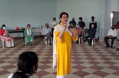 स्थापना दिवस पर एमजे कालेज में खुश रहने के टिप्स
