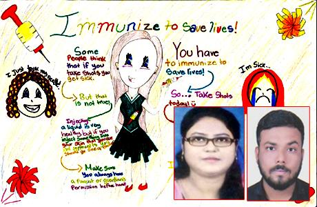 कोविड टीकाकरण पर एमजे कॉलेज में पोस्टर एवं निबंध प्रतियोगिता