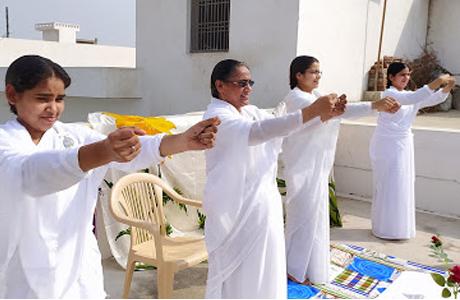 Yoga day at Brahmakumaris