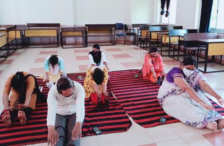 Yoga day at Sanjay Rungta Group