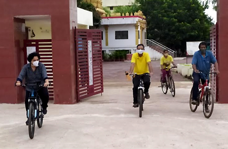 SSMV Director and staff take to cycling