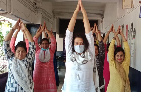 Yoga Day at MJ College