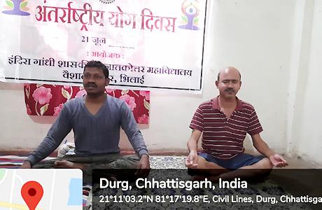 Yoga Day at Indira Gandhi Govt. College Bhilai
